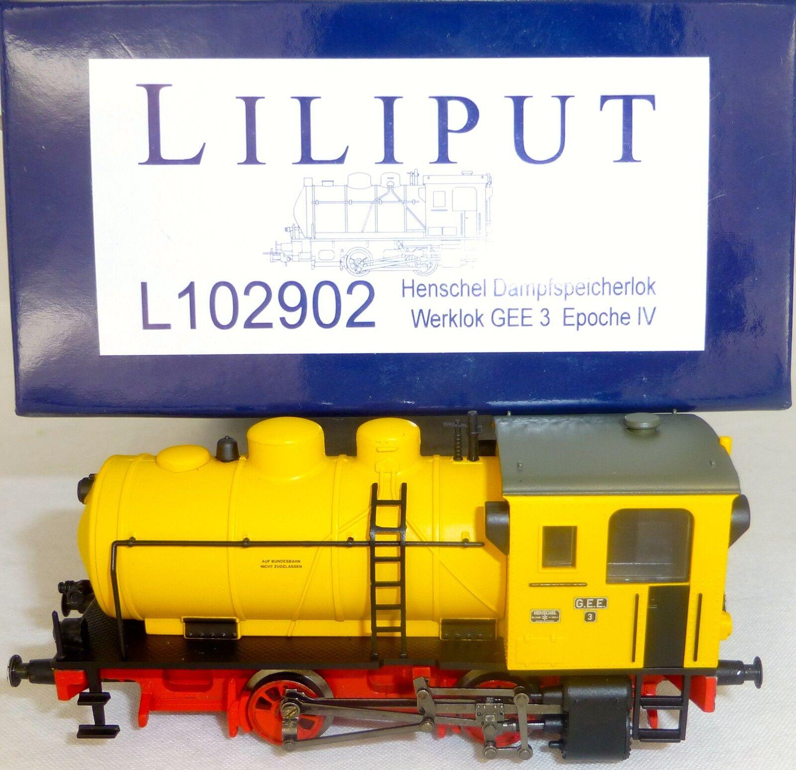 Steam Engine Henschel Works Locomotive Gee3 Ep IV Liliput L102902 H0 1 87 New