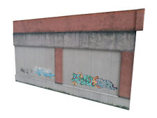 CONCRETE & BRICK RETAINING WALL & GRAFFITI OO GAUGE CARD KIT MODEL RAILWAY