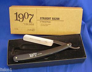 """Straight Razor 5/8"""" round point Fromm 1907 #72r"""