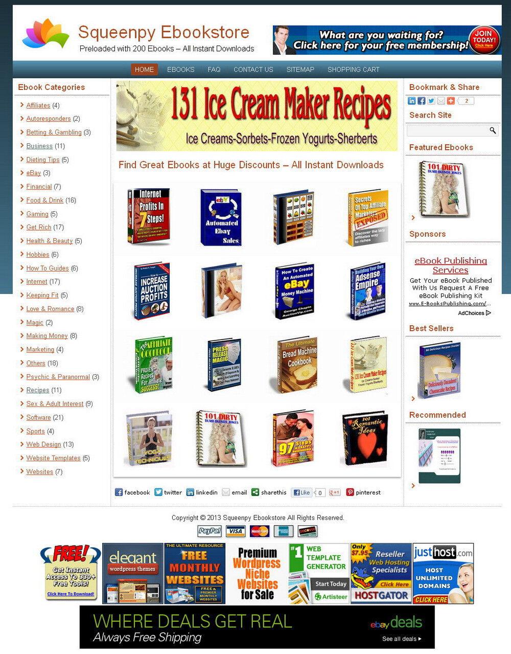 Money-Making Automated Wordpress EBOOK STORE + 200 Ebooks + INSTALLATION 2