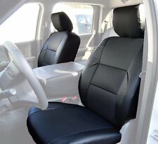 DODGE RAM 2009-2016 BLACK S.LEATHER CUSTOM MADE FIT FRONT SEAT COVER