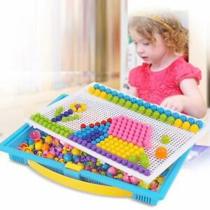 Children-Puzzle-Peg-Board-With-296-Pegs-Kids-Educational-Toys-Creative-Gifts-SO