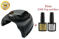 Professional 60w Led Gel Lamp Set With Free Cnd Shellac Top And Base 0.25oz Kit