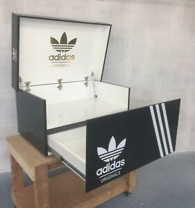 Details about Giant shoe box trainer sneaker shoe storage chest Adidas