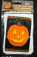 50 x Halloween Zucca Loot Bags Sacchetti Regalo Festa Sacchetti Dolcetto o Scherzetto GRATIS P&P