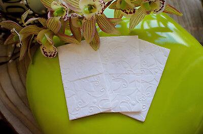 50 Geprägte Taschentücher Freudentränen Blätter Hochzeit Taufe 100% Original