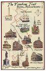 The Freedom Trail, Boston Massachusetts, USS Constitution etc. - Modern Postcard