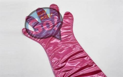 50pcs//Bag Artificial Insemination Gloves Vet Farm Use Arm Length Disposable