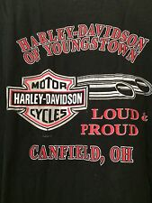 Harley Davidson Motorcycles T Shirt Loud And Proud Mens XXL Made In USA EUC