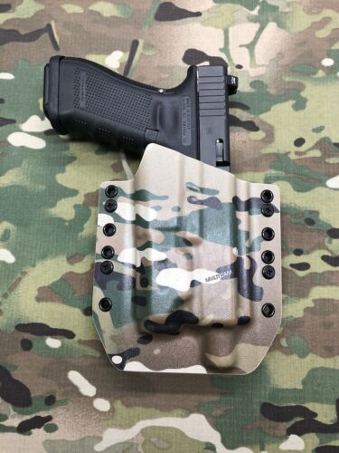 Multicam Kydex Holster for Glock 17 22 31 Threaded Barrel Inforce APL