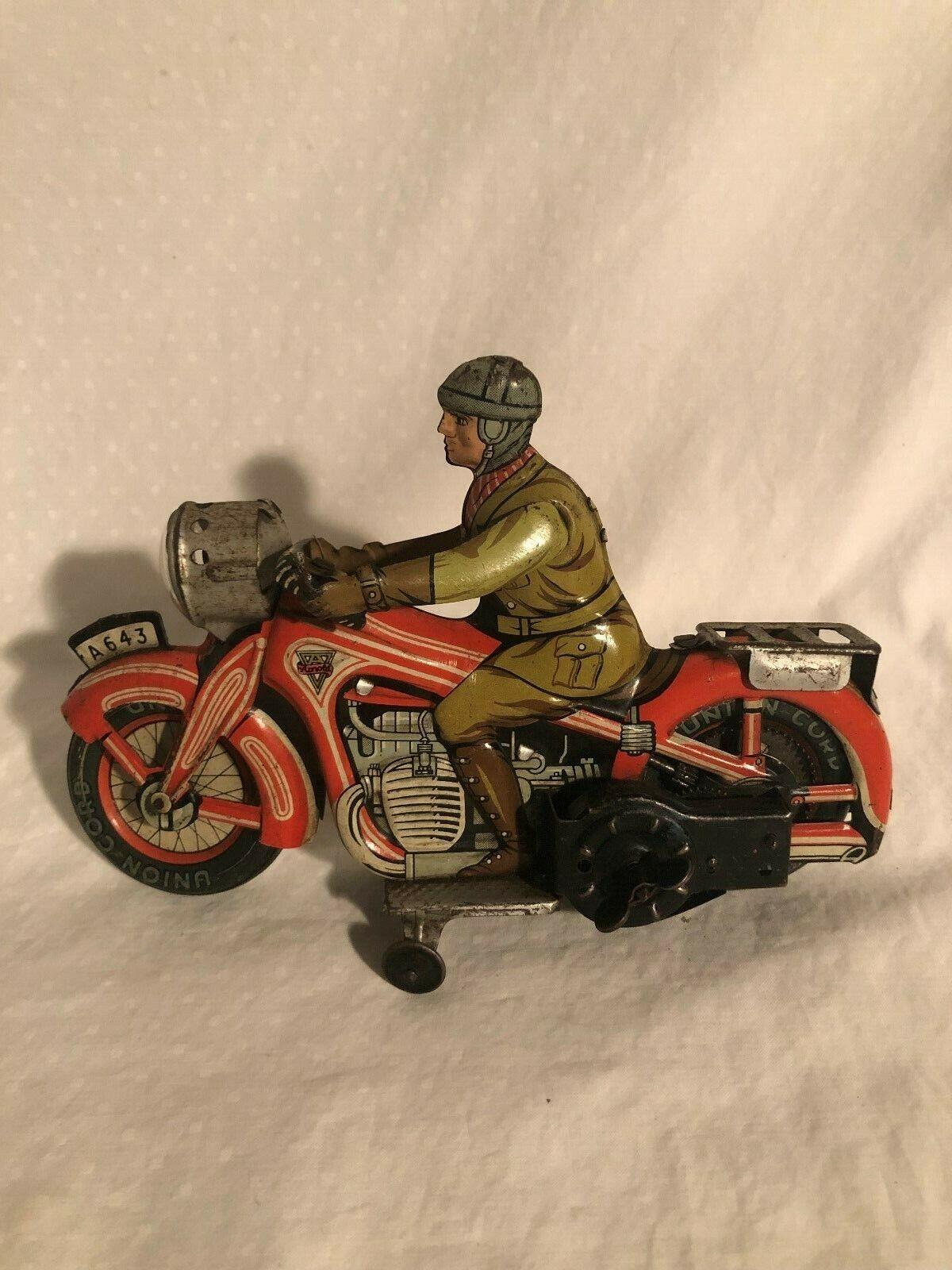 80% di sconto Arnold a 643 Scatola di Latta a autoica Motocicletta Motocicletta Motocicletta Civile Rider Geruomoia 1940s  garanzia di credito
