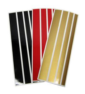 Details Zu Aufkleber Streifen In Den Deutschland Farben Brd Schwarz Rot Gold 12er Set 20cm