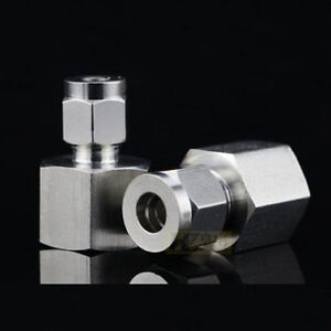 """Compression 5mm 3//16/"""" Tube Tubing OD x 1//8 BSPT BSP Male Pipe Fitting LOK F4#bF"""