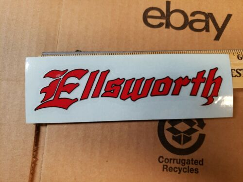 "5.5/"" ELLSWORTH RED Mountain Frame Ride Car Mountain Bike Bicycle DECAL STICKER"
