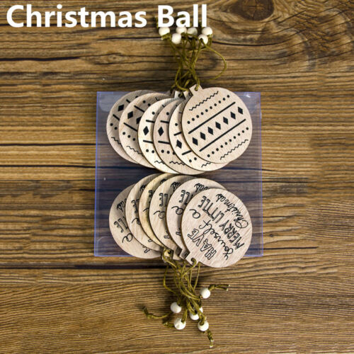 Wooden Ornaments Snowflake//Star//Angel Christmas Tree Decoration Xmas Hanging