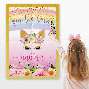 Pin the Horn on the Unicorn Games ~ Pin the Tail Game