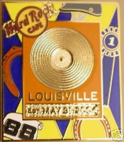 Hard Rock Cafe LOUISVILLE 2005 GOLD RECORD Series PIN LE 300!