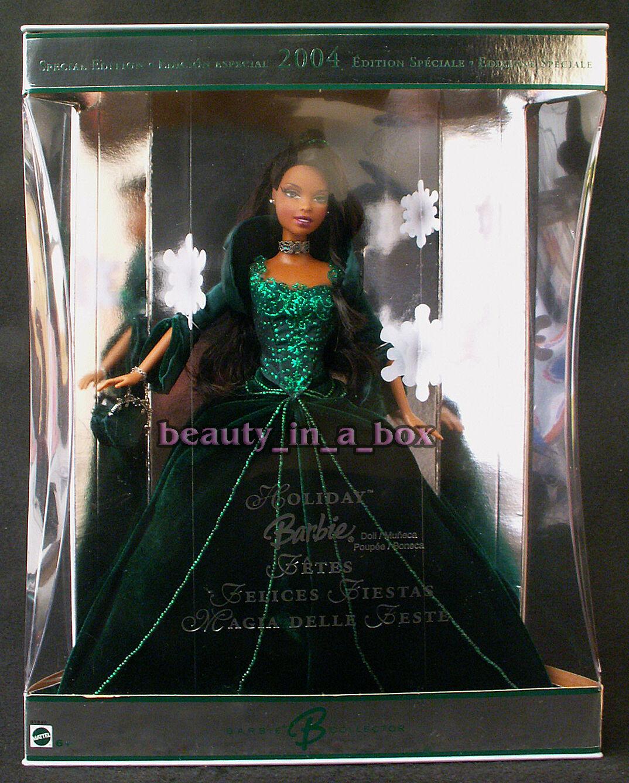 2004 AA Vacaciones Barbie Muñeca Modelo extranjero celebración afroamericano Navidad