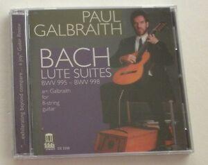 NEW-sealed-Bach-Lute-Suites-Guitar-Arrangement-Paul-Galbraith-Delos-CD