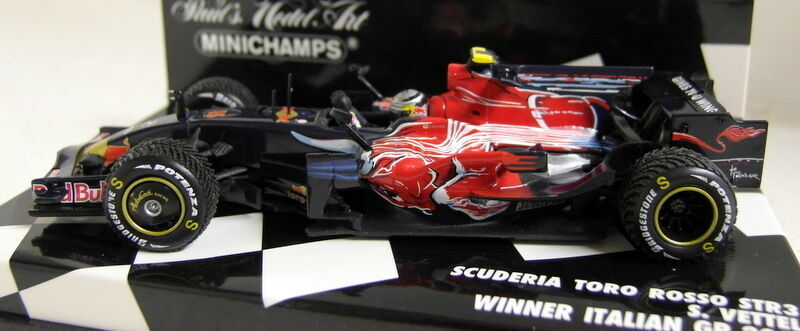 calidad oficial Minichamps Escala 1 1 1 43 400 080115 Scuderia Toro rojo STR3 Vettel Diecast F1 coche  venta caliente