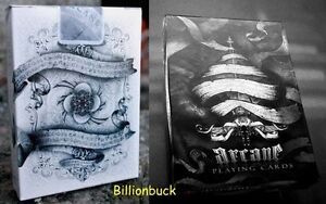 Bicycle Ellusionist Combo Arcane Black White Magic US Playing Cards Poker New