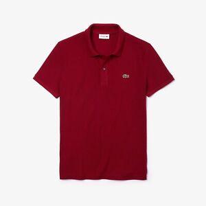 Polo-uomo-LACOSTE-Slim-Fit-taglio-attillato-in-petit-pique-PH4012-00-Bordeaux
