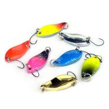 3cm 5g colorful trout lure  spoon bait 7pcs//lot single hook*metal fishing Wv
