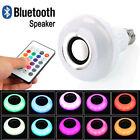 12W E27 LED RGB Sans fil Haut-parleur Bluetooth Ampoule Lampe de musique Éloigné