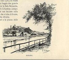 Stampa antica BASSANO DEL GRAPPA veduta Vicenza 1892 Old antique print