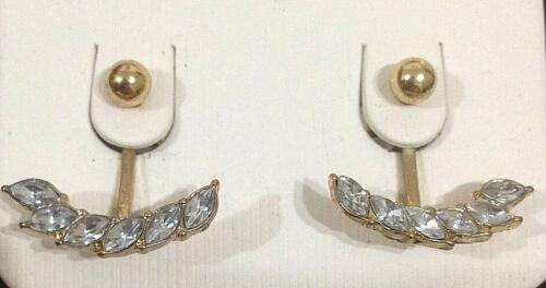 Dejar pendientes de plata de diseño diamantes pluma o Color Oro BNWT Para Navidad