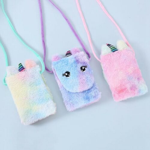 Kids Girls Unicorn Plush Shoulder Bag Crossbody Messenger Purse Handbag Yin #eva
