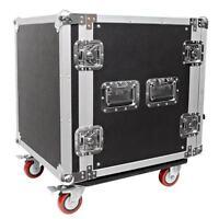 Seismic Audio 12 Space Rack Case Amp Effect Mixer Pa/dj Pro Casters on Sale