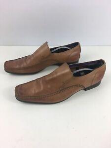 Para-Hombre-Firetrap-Tipo-Mocasin-De-Cuero-Marron-Tostado-Inteligente-Formal-Zapatos-UK-12-EU-46