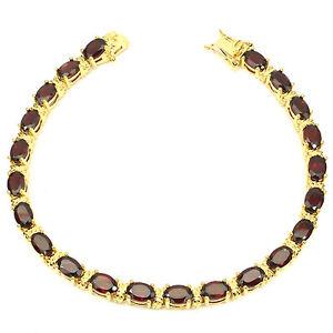 Bracelet Grenat  rouge facetté_Argent 925 + Plaque or_PROMOTION -40% ds boutique