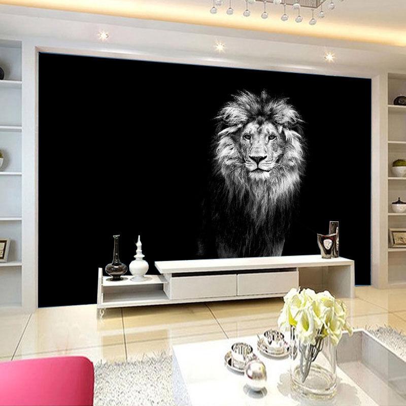 3D Sketch Lion Paper Wall Print Wall Decal Wall Deco Indoor Murals