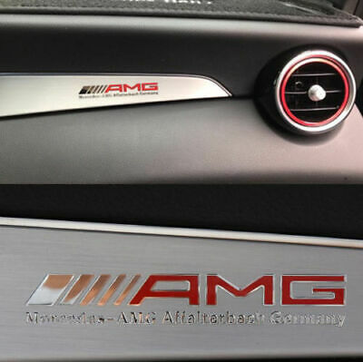 AMG Car Sticker for Mercedes Benz  Accessories Emblem Badge Decal Logo Aluminum