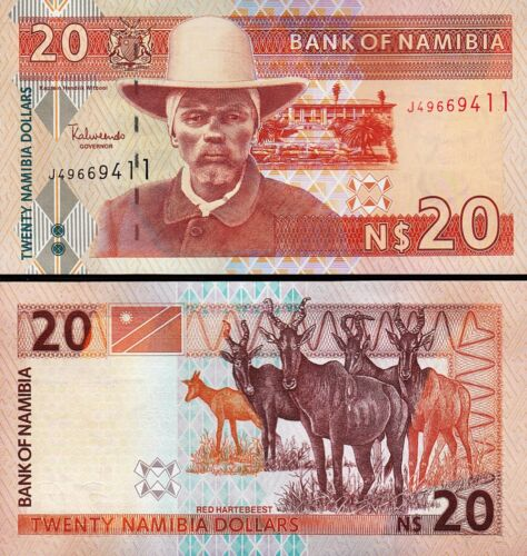 P-6 Namibia 20 Dollars 2002 5 PCS Consecutive LOT UNC