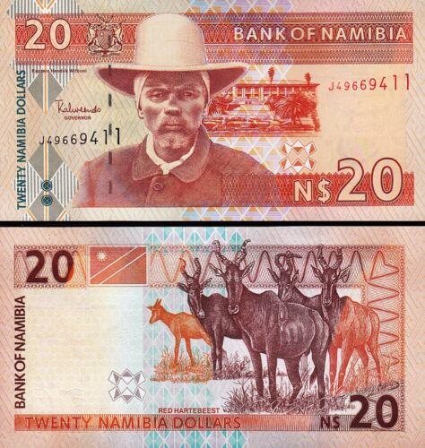 P-6 Namibia 20 Dollars 2002 5 PCS Consecutive LOT UNC