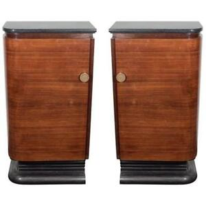Remarkable Details About American Art Deco A Pair Of Streamlined Wood Marble Bar Cabinets Ca 1940S Download Free Architecture Designs Embacsunscenecom