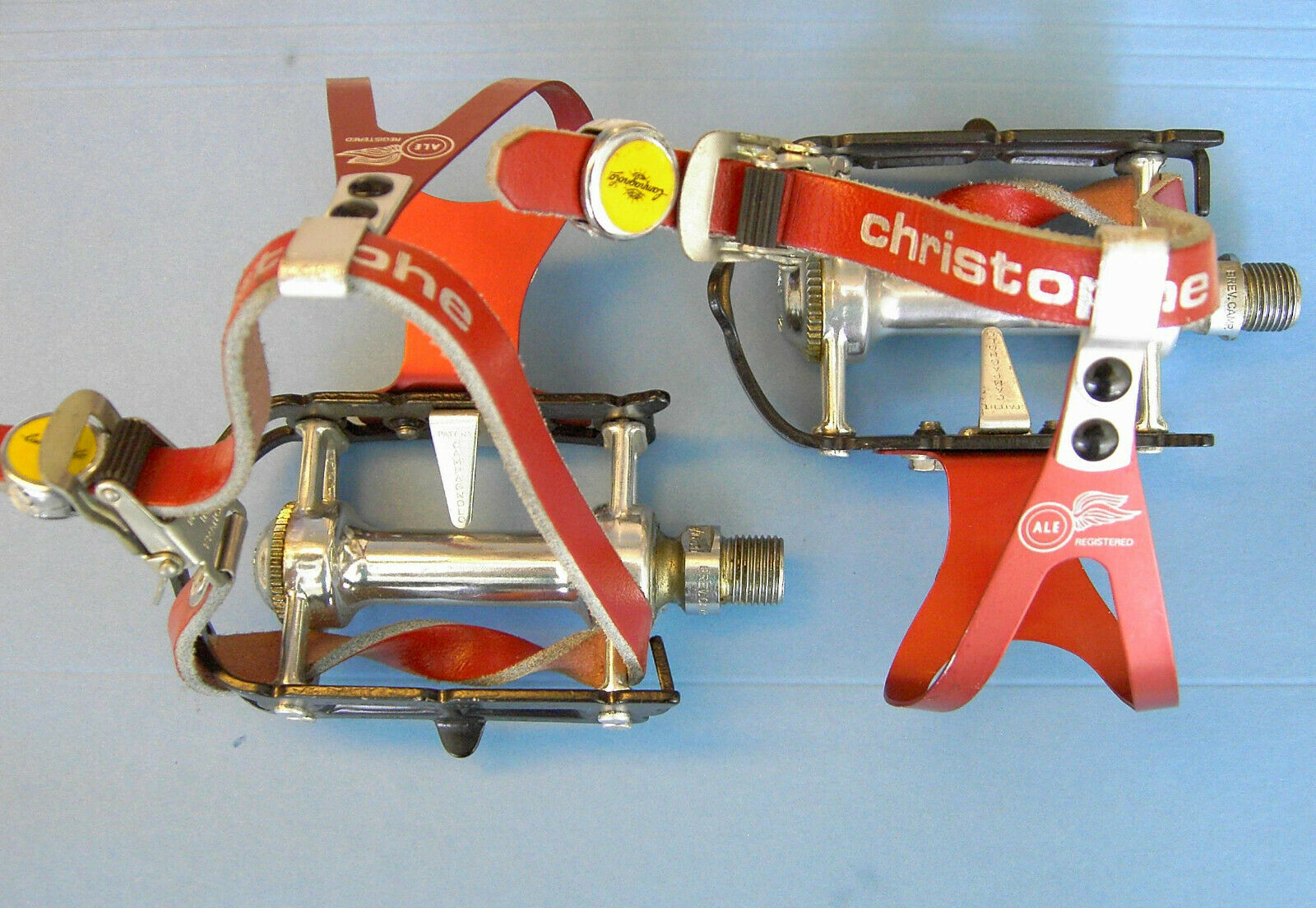 Campagnolo SR pedal 80' Superleggera with extra TI spindles + Ale toclips NEW
