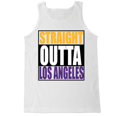 STRAIGHT OUTTA LOS ANGELES LA LAKERS BASKETBALL PURPLE GOLD MAMBA MENS TANK TOP