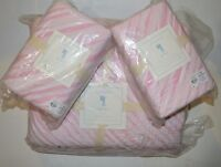 Pottery Barn Bailey Quilt Full Queen 2 Euro Shams Pink Ruffle