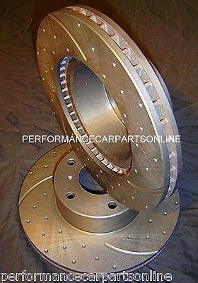 DRILLED & SLOTTED Ford Falcon XB XC Rear 73-79 REAR Disc brake Rotors RDA103D