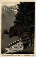 Schloßanger Alp bei Pfronten Allgäu Ansichtskarte ~1950/55 Berghütte mit Roßberg