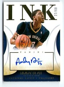 Details About Anthony Davis 13 14 Panini Immaculate Ink Auto Autograph Card 22 60