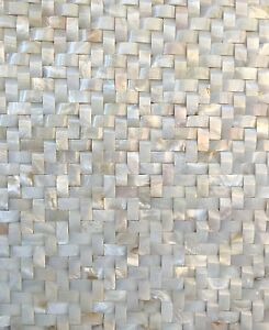 White mother of pearl shell mosaic tile wavy herringbone 12x12 wall image is loading white mother of pearl shell mosaic tile wavy ppazfo