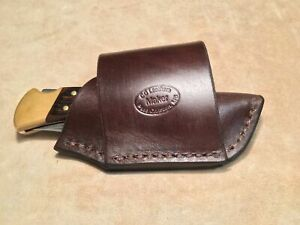 Brown Leather Cross Draw Knife Sheath for a Buck 110/112 Knife. Sheath Only