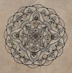 Glittering Mandala - Original Hand Drawn Ink signed artwork painting / drawing