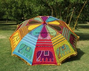 Indian-Elephant-Garden-Umbrella-Handmade-Big-Parasols-Outdoor-Patio-Decorative