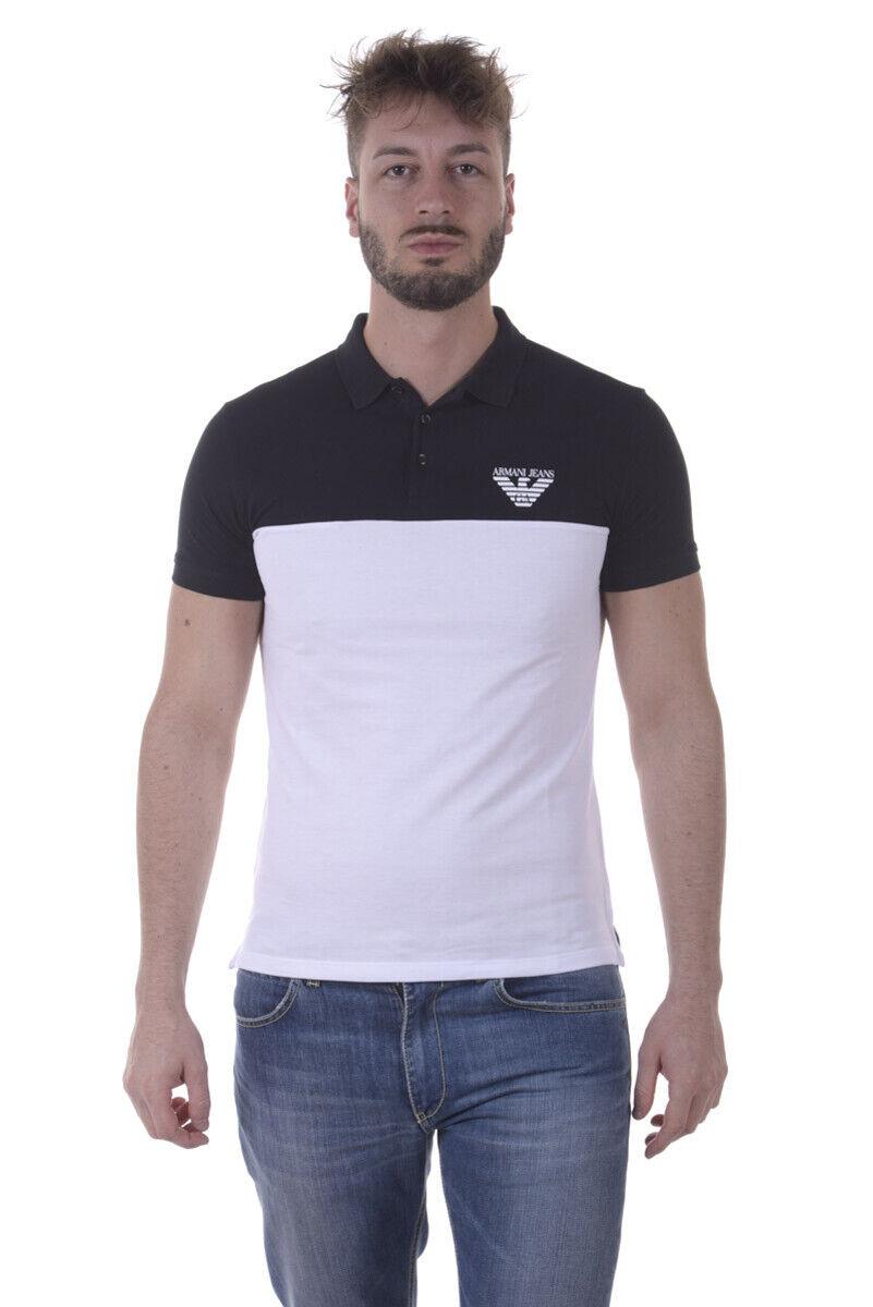 Armani Jeans AJ Polo Shirt Cotton Man Weiß 3Y6F076J0SZ 1100